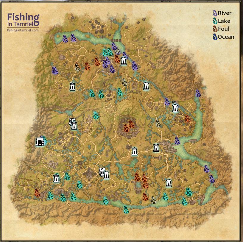 Enbonheart Pact Fishing Maps   Fishing in Tamriel
