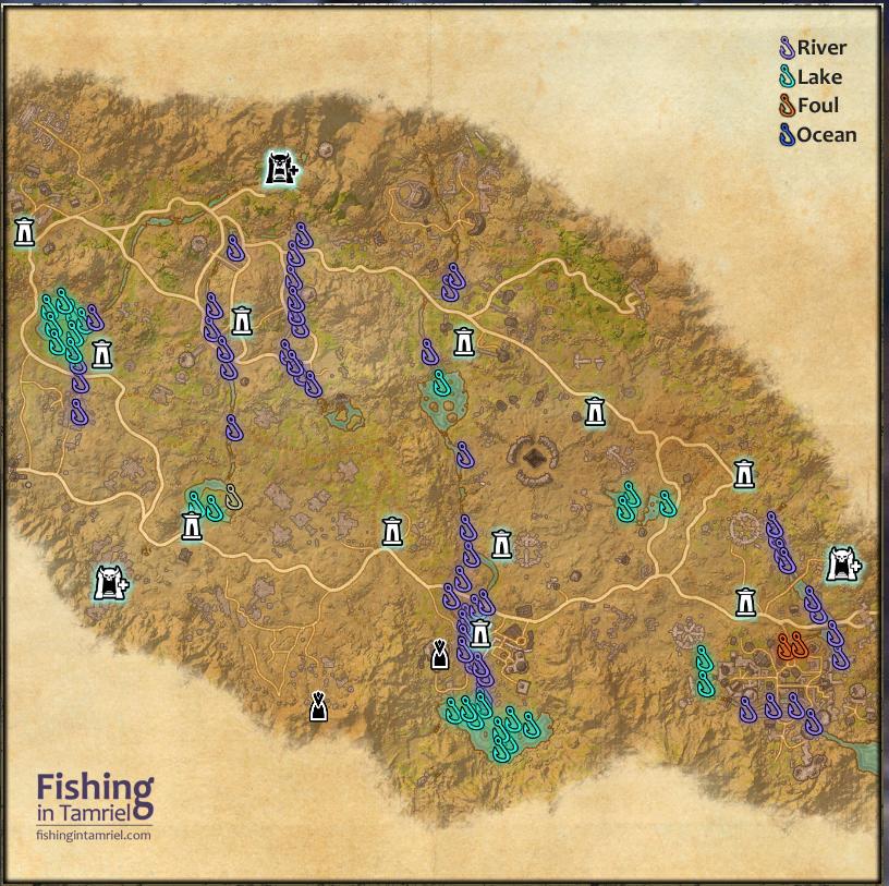 Craglorn fishing map fishing in tamriel for Fishing guide eso