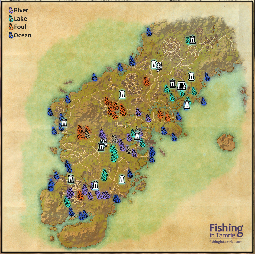 daggerfall covenant fishing maps fishing in tamriel